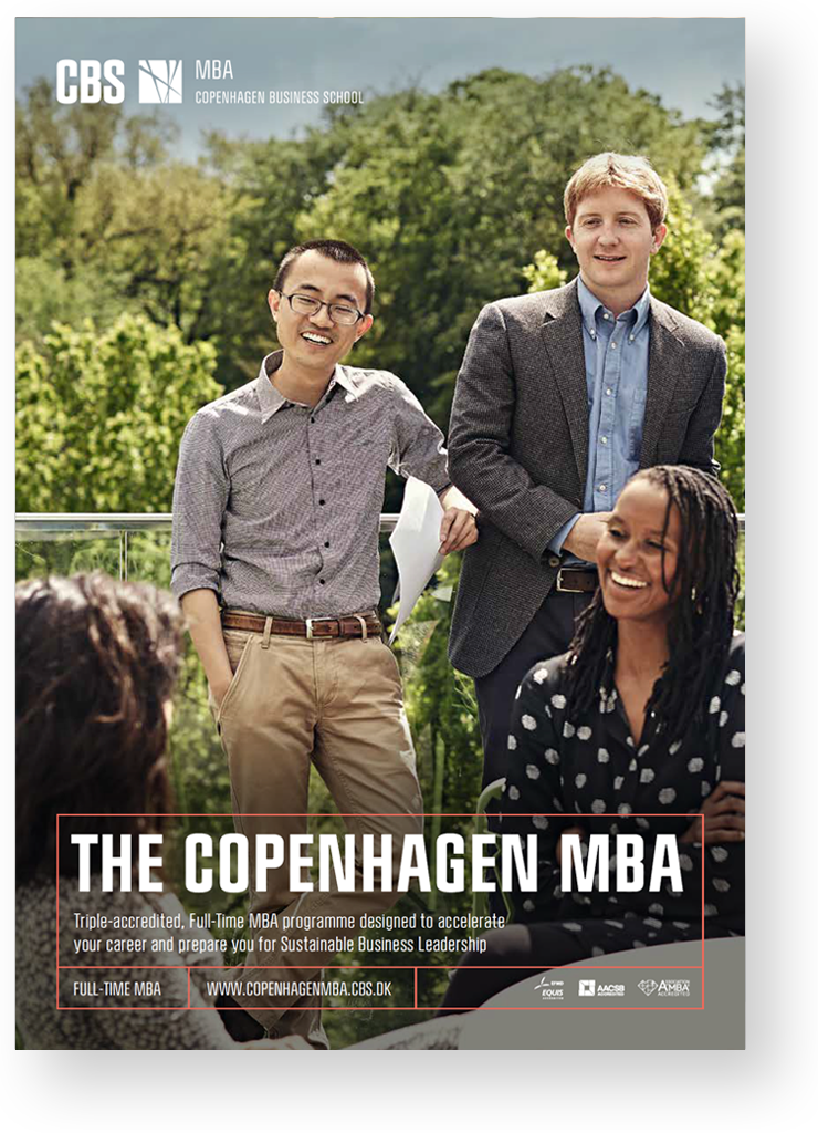 Cover of CBS MBA brochure